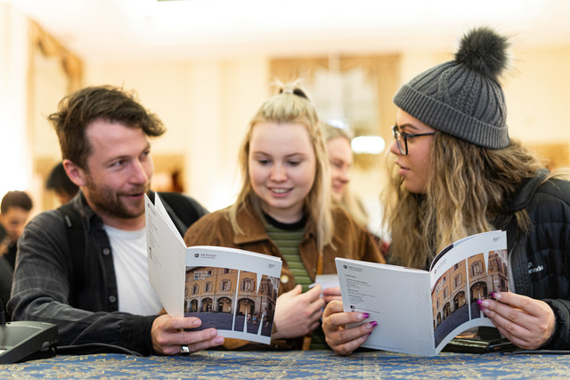 Students with Guide